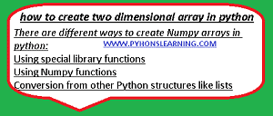 Read more about the article how to create 2D array in python 3.8