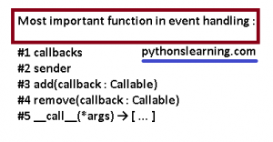 Event handling in python tutorials point