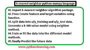 k nearest neighbor python numpy language