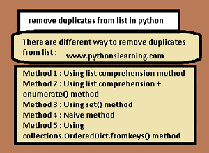 Read more about the article How to remove duplicates from list in python 3
