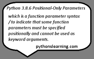 Read more about the article what is Positional parameters in python 3.10