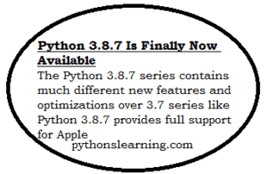 Read more about the article Python 3.8.7 is finally now available