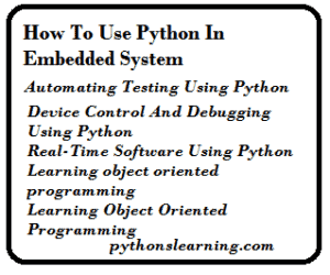 Read more about the article How to use python in Embedded System
