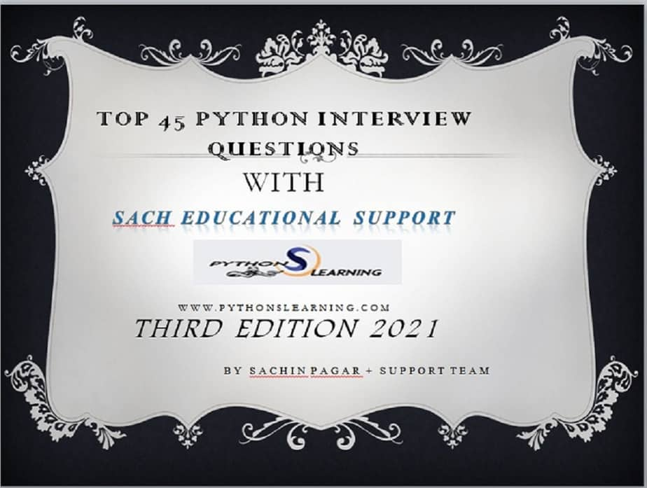 PYTHON INTERVIEW QUESTIONS For Beginner