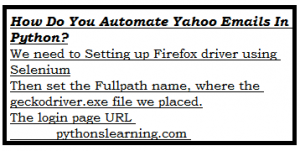 Read more about the article How do you automate Yahoo emails in python?