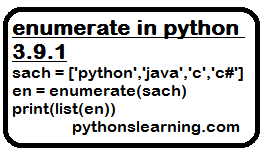 enumerate in python