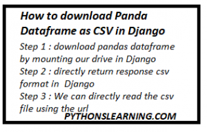 Read more about the article How to download Pandas Dataframe as CSV in Django