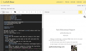 Read more about the article which is free online compiler / editor for Latex