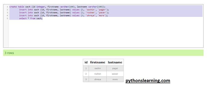 Best postgresql online compiler for practice