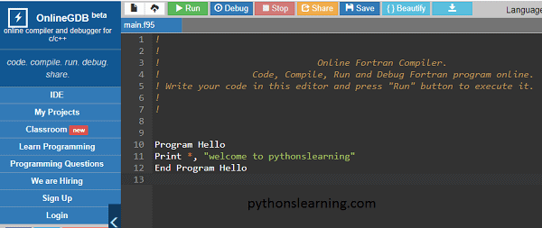 You are currently viewing which is best online fortran compiler/ editor for practice
