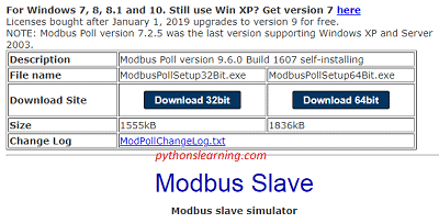 which is free and best modbus simulator | compiler |